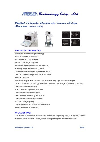 Digital Portable Electronic Convex Array Scanner