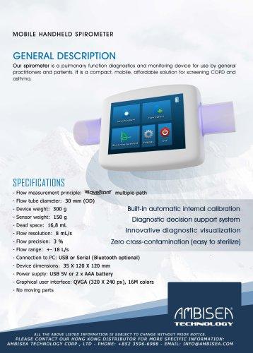 Mobile Handheld Spirometer