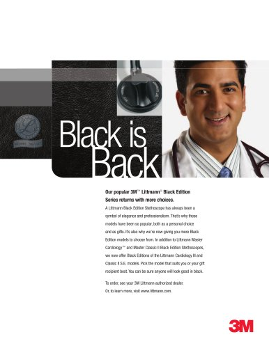Black is Back: Littmann Black Edition Stethoscopes