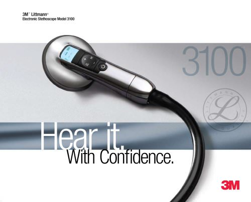 Brochure for 3M Littmann Electronic Stethoscope Model 3100