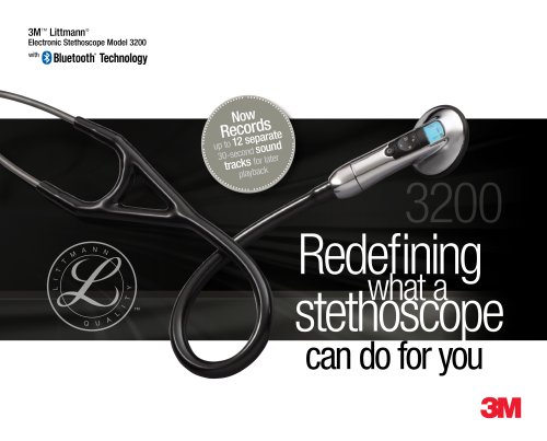 Brochure for 3M Littmann Model 3200