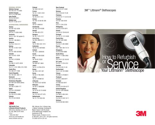 Learn How to Refurbish or Service Your 3M Littmann Stethoscope