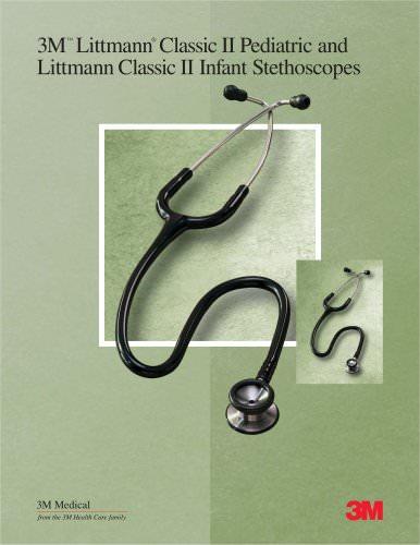 Littmann Classic II Pediatric and Infant Stethoscope Sales Sheet