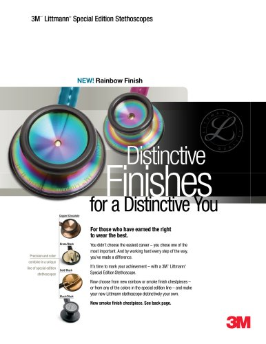 Special Editions/Unique Finishes Brochure-3M Littmann Scopes