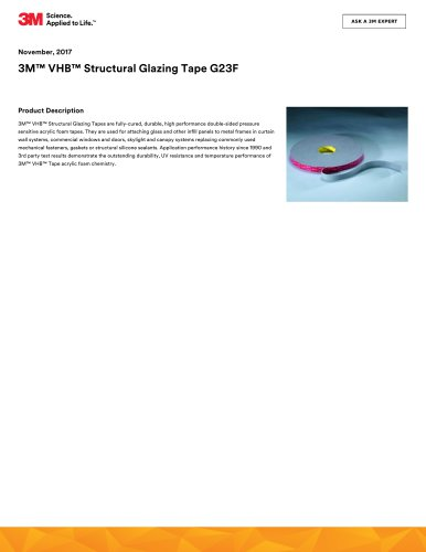 3M™ VHB™ Structural Glazing Tape G23F