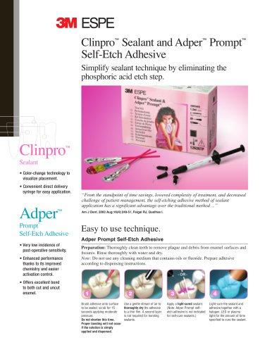 Adper™ Prompt™ L-Pop™, Clinpro™ Sealant