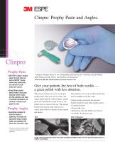 Clinpro TM Prophy  Paste  and  Angles.
