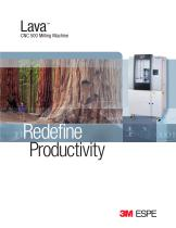 Lava CNC 500 Milling Machine brochure