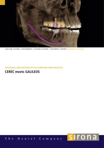CEREC and GALILEOS