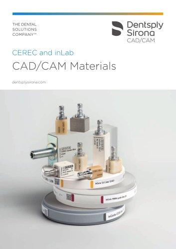 CEREC and inLab CAD/CAM Materials