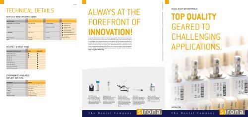 Sirona CAD/CAM materials