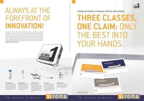 Sirona Instruments Premium, Comfort and Economy