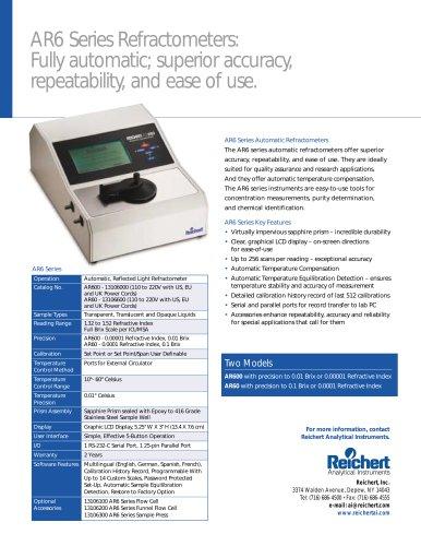 AR600 Automatic Digital Refractometer