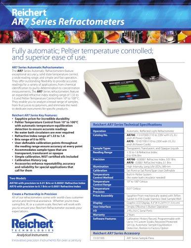AR700 Automatic Digital Refractometer Brochure
