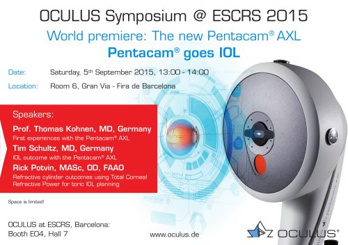 OCULUS Symposium