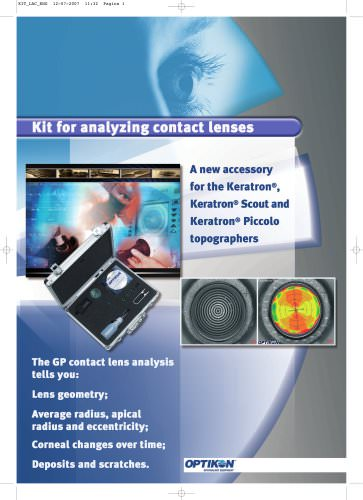 Kit for analyzing contact lenses
