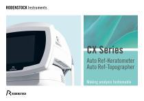 CX Series: CX 800, CX 2000, CXT 3000 - 1