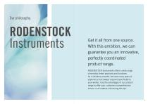 RODENSTOCK Instruments Product Guide 2021 - 2