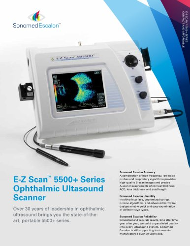 E-Z Scan™ 5500+ Series Ophthalmic Ultasound Scanner