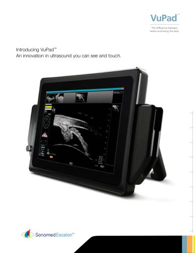 Introducing VuPad™ An innovation in ultrasound you can see and touch