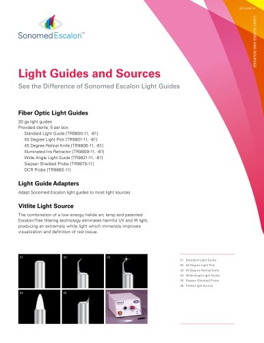 Light Guides and Sources Brochure