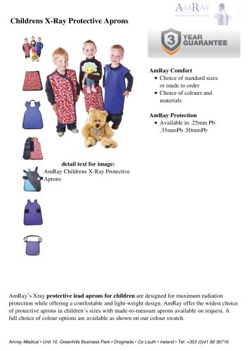 Childrens X-Ray Protective Aprons