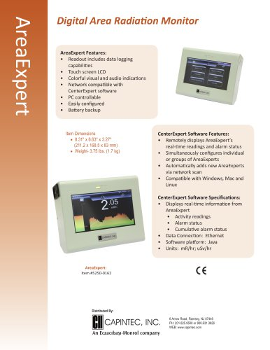 AreaExpert Digital Area Radiation Monitor