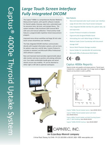 Captus ® 4000e Thyroid Uptake System