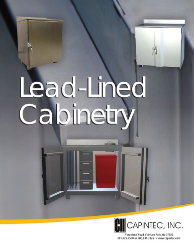 Configurable Lead-Lined Cabinetry