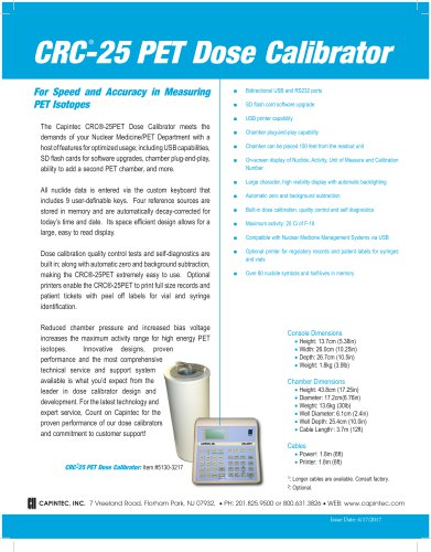CRC ®-25PET Dose Calibrator