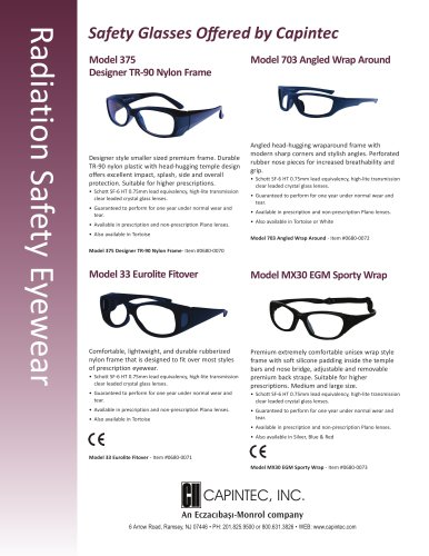 Radiation Safety Eyewear