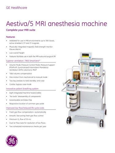 Aestiva/5 MRI anesthesia machine