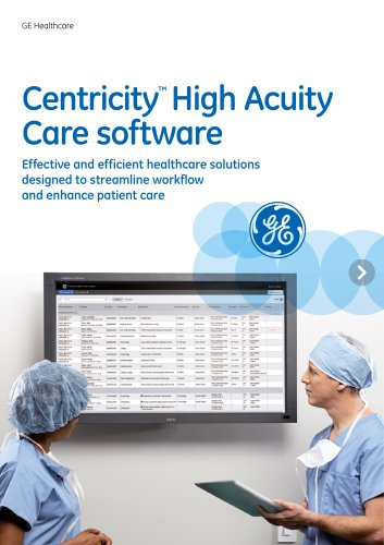 Centricity High Acuity Overview Brochure