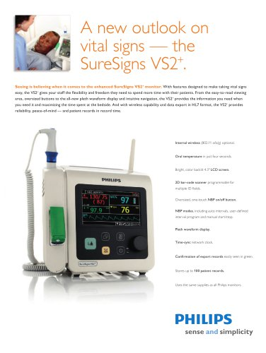A new outlook on vital signs — the SureSigns VS2+