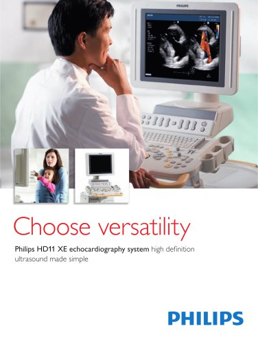 philips HD11 XE echocardiography system high definition ultrasound made simple