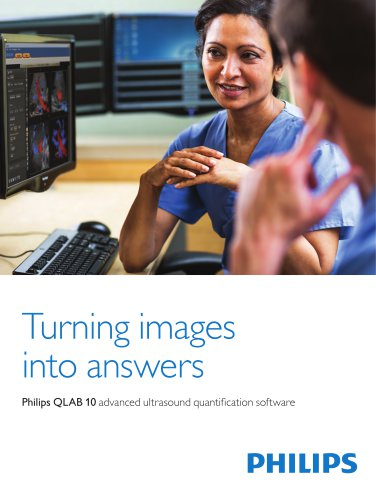 Philips QLAB 10 advanced ultrasound quantification software
