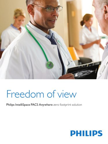 Product Brochure Philips IntelliSpace Anywhere - Mobile platform image distribution