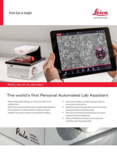 PAULA - Personal AUtomated Lab Assistant