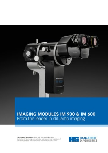 IMAGING MODULES IM 900 & IM 600