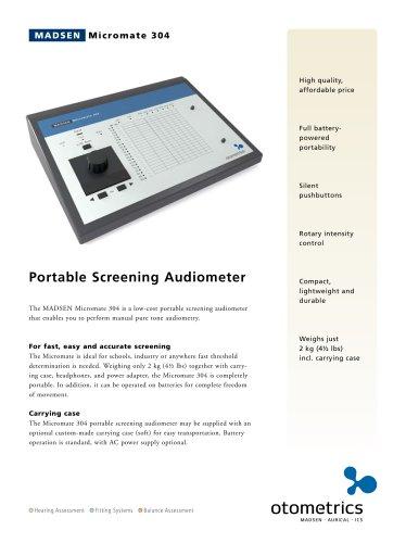 MADSEN Micromate 304 - Portable screening audiometer