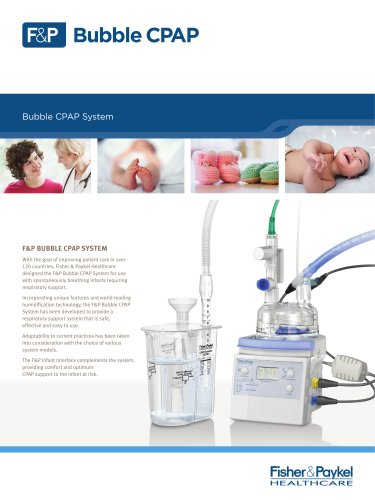 Bubble CPAP System Specification Sheet