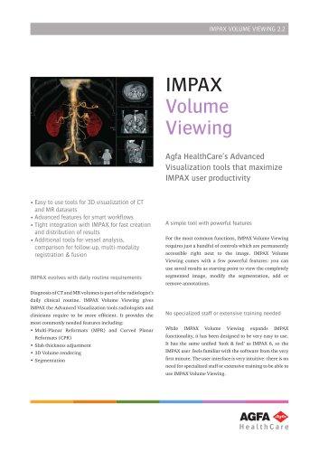 IMPAX_Volume_Viewing datasheet