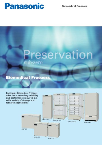 Biomedical Freezers