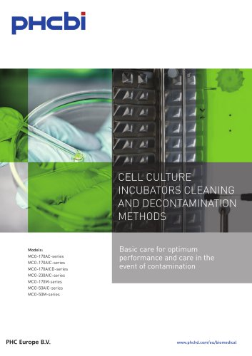 Cell Culture Incubators Cleaning and Decontamination Manual