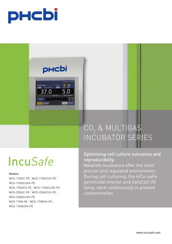 CO2 & MULTIGAS INCUBATOR SERIES