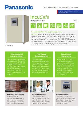 IncuSafe Multigas Incubator MCO-170M Product Sheet