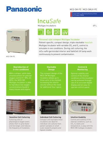 IncuSafe Multigas Incubator MCO-5M Product Sheet