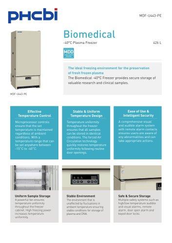 MDF-U443-PE Biomedical -40°C Plasma Freezer