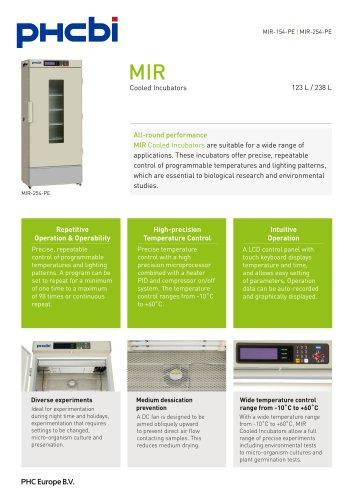 MIR-154-PE & MIR-254-PE Cooled Incubator