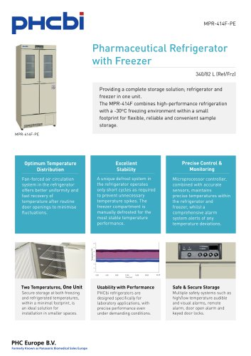 MPR-414F-PE Pharmaceutical Refrigerator with Freezer